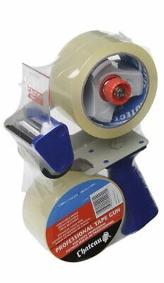 "3"" Inch Portable Packing Tape Gun Dispenser with two 110 yds Clear Tape Roll"
