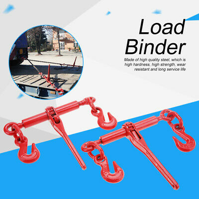 "2 PACK Ratcheting Load Binder 1/4 - 5/16"" Chain Ratchet Boomer Tie Down Rigging"