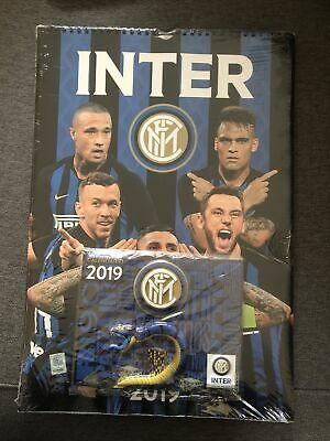 Calendario Verticale Ufficiale Inter 2019 Sigillato  + Mini Calendario