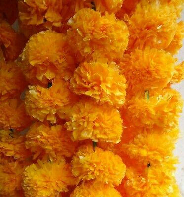 Artificial marigold flower strings party decoration 4 feet 8 inch ea USA seller
