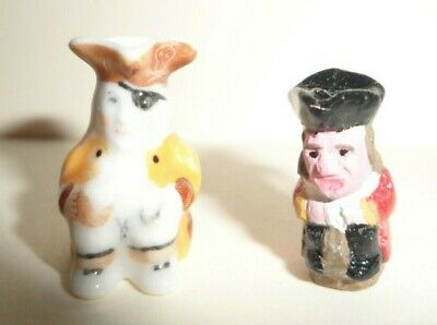 PAIR OF DIE CAST TOBY MUGS DOLL HOUSE MINIATURE