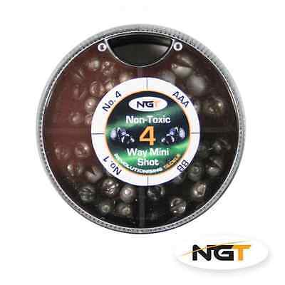 Details about  /8 Way Non Toxic Split Shot Weights No 1 No 4 No 6 No 8 BB AAA AB SSG Fishing NGT