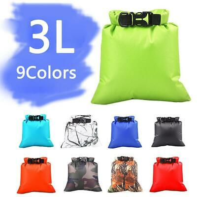 3L Sports Outdoor Waterproof Canoe Camping Hiking Backpack Dry Bag Pouch D2X9