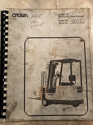 Details about Crown Forklift Series PR Service And Parts Manual ...
