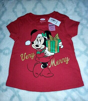 Disney Store Baby Girl Minnie Mouse Christmas Santa Hat Holiday Red Sweater