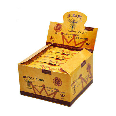 AUTHENTIC HORNET 320Pcs King Size Pre-Rolled Cones Classic Rolling Paper Cones