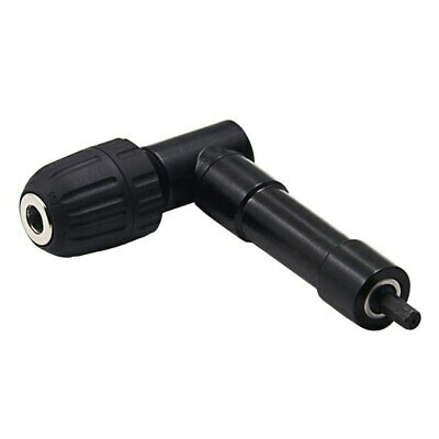 90 Degree Right Angle Keyless Chuck Cordless Impact Drill Adapter Attachment 8mm