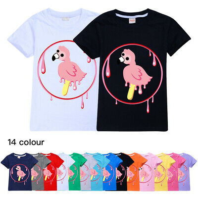 New Flamingo Flim Flam Boys Girls 100% Cotton Casual Short Sleeve T-Shirt Tops