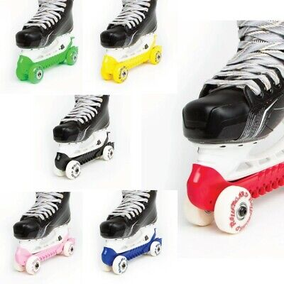 RollerGard® NO TOUCH Rolling Wheels Hockey Skate Guards KEEP YOUR BLADES SHARP