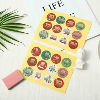 Christmas Sealing Stickers Adhesive Labels Paper Stickers Xmas Gift Decor N0E9