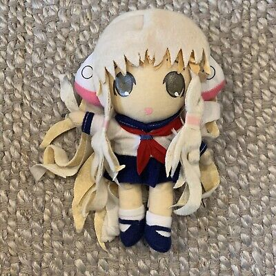 "RARE Chii in Sailor Uniform Plush Clamp Chobits Chi Anime Manga 7.5"" Tall Clamp"