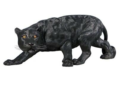 "52.5"" Long Lifesize African Black Panther Statue (dt) J13"
