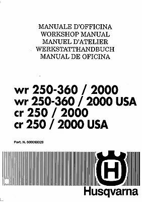 Husqvarna Parts Manual Book 1995 Wr 250 Wr 360 17 50 Picclick