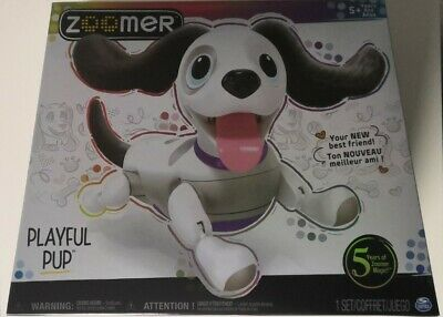 Zoomer Playful Pup Responsive Robotic Dog With Voice Recognition NEW /& SEALED