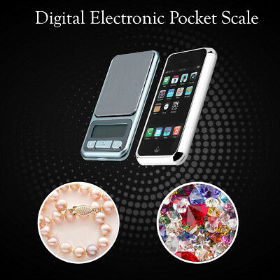 0.1g to 500g Electronic Pocket Digital LCD Weighing Scales Jewellery Kitchen