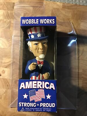 Funko Wobble Works Uncle Sam Bobblehead America Strong and Proud Vote Patriotic