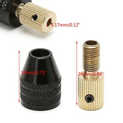 3.17mm Electric Motor Shaft Mini Chuck Fixture Clamp 0.3mm-3.5mm Drill Bit   x a