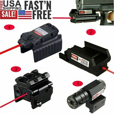 US MINI Red Dot Laser Sight 20MM Picatinny Weaver Rail Low Profile For Rifle
