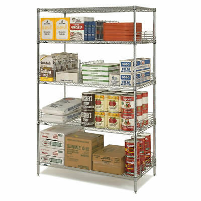 Metro Heavy Duty Stainless 4 Tier Shelving Units 107 X 46 X 159 Load 800Kg/Bay