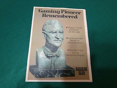 """**Harolds Club Casino** Reno,Nv ( """"Pappy"""" Smith ) **Gamimg Pioneer Remembered**"""