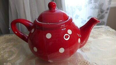 Old Amsterdam Ceramic Teapot White Large 5-6 Cups Stainless Steel Lid /& Strainer