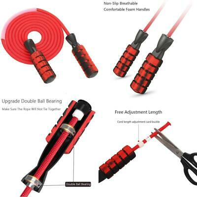 Speed Rope for Men and Women Vaveah Weighted Jump Rope Workout Anti-Slip Jumping Rope Adjustable Length Skipping Rope