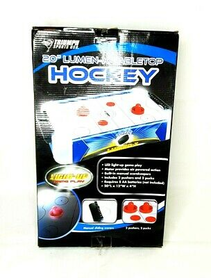 Triumph Sports USA 45-6060W 54 in Fire N Ice LED Air-Powered Hockey Game Table