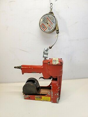 ISM International Pneumatic Carton Box Stapler Machine Gun W/ARO Tool Balancer