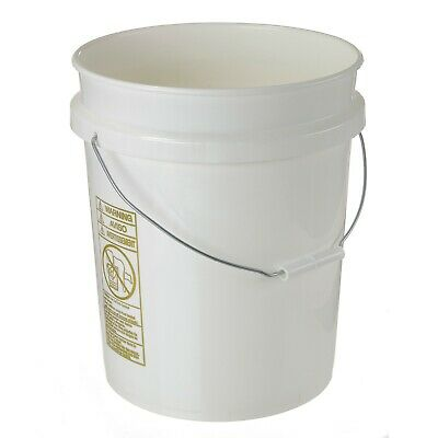 5 Gallon Plastic Pails Buckets Seconds- Cheap Inexpensive- Lot of 6