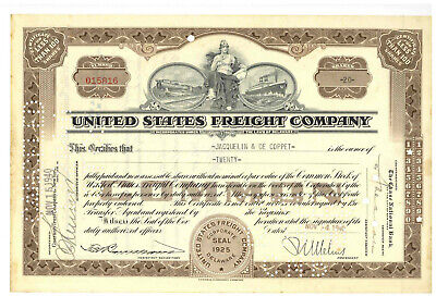 United States Freight Company. Stock Certificate 1940