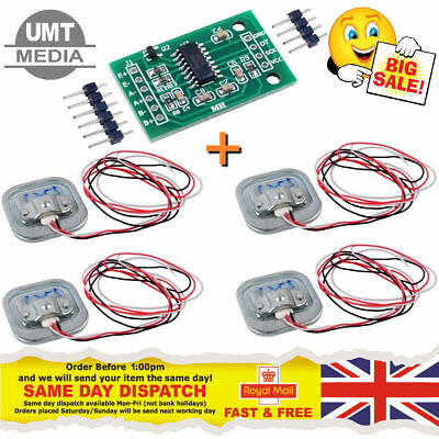 4 X 50KG Body Load Cell Weight Scales Sensor With HX711 sensor. Arduino PI