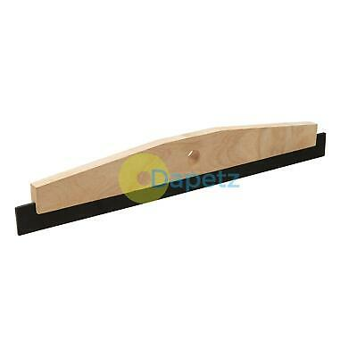 "24"" Rubber Floor Squeegee Industrial Wooden Stock And Rubber Blade Heavy Duty"