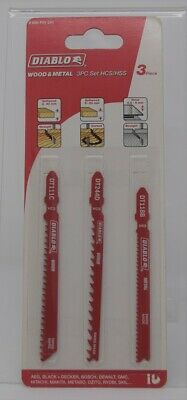 Diablo Wood & Metal Reciprocating Blade Pack of 3 HCS HSS  BRAND NEW