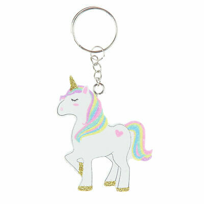 Magical Unicorn 'Rainbow Hair' Children's Gift - Unicorn Shaped Keyring