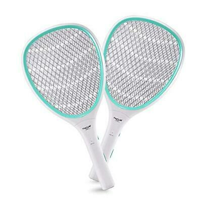 2-Pack Handheld Bug Zapper Racket Electric Fly Swatter Mosquito Killer 2Pack