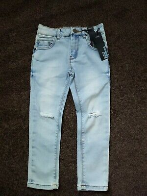 Next Age 4 Years Boys Skinny Distressed Ripped  Jeans Ajustable Waist Bnwtags
