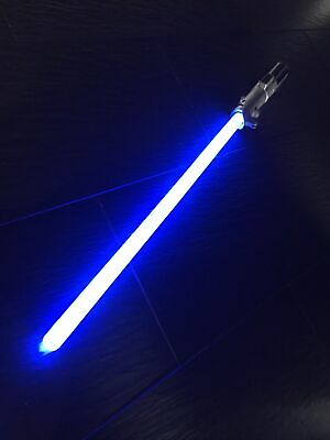 Disney Star Wars Anakin Rey Skywalker FX Lightsaber Blue Blade Light AS IS,