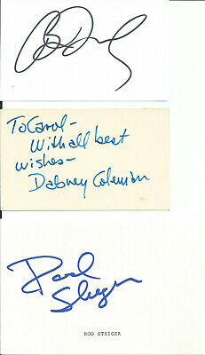 Brian Dennehy, Dabney Coleman & R. Steiger Original Signed Card Autographed Lot