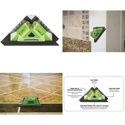 Tile and Flooring Laser Square with 2 90° Laser Lines, Two Built-In Bubble Vial