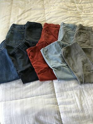 Lot Of Boys Jeans Size 12 (Cherokee & Old Navy) Skinny Adjustable Lot Of 5