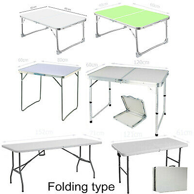Heavy Duty Folding Table Portable Plastic/Alu Camping Garden Party Catering Feet