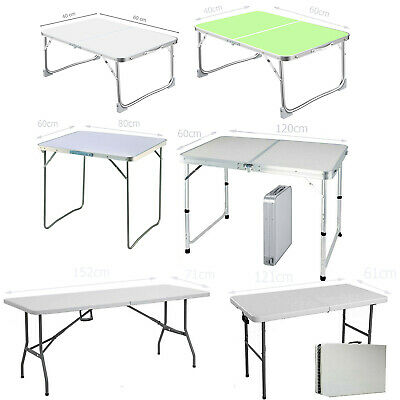 Folding Table Catering Camping Heavy Duty Picnic BBQ Party Laptop Desk 60- 152cm