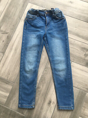 Boys Primark Denim Co Mid Blue Skinny Jeans 6-7 Years Excellent Zip Fly