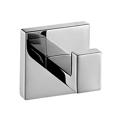 Aothpher 304 Stainless Steel Chrome Finished Towel Hook,Modern Chrome Towel Robe