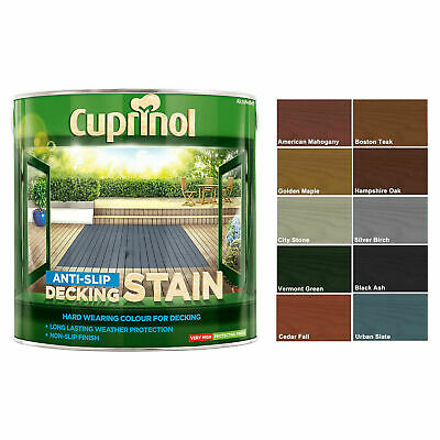 Cuprinol 2.5L Anti Slip Decking Stain Various Colours Wood Paint Protection