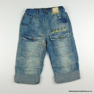 2-3 years boys NEXT BNWT New blue straight stylish jeans denim trousers