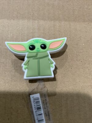 Yoda Croc Shoe Charms Wristband Charms Shoe Lace Adapter Charms Generic Handmade Baby Star Wars Set of 2