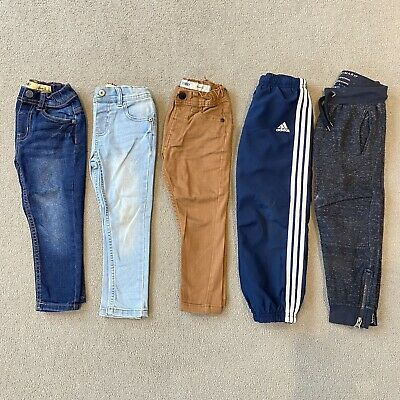 Boys Jeans Trousers Joggers Tracksuit Bottoms Bundle Primark & Adidas 3-4 Years