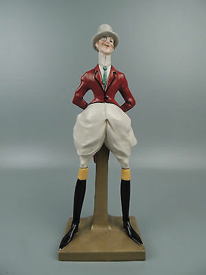 Antique Amphora Pottery Figurine Dandy Gentleman in Driving Suit Elvir Otto PT