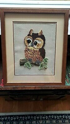 Awesome Yarn Art Professionally Framed Owl Picture